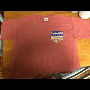 Red Comfort Colors Frocket Tee- Aztec Pocket